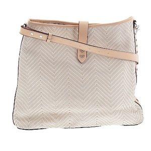 Stella & Dot Woven Leather Shoulder Purse